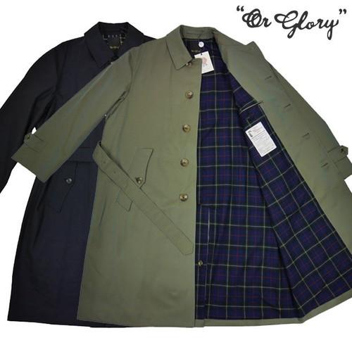 【OR GLORY オアグローリー】ステンカラー ロング丈 コート バルマカーン (Balmacaan)