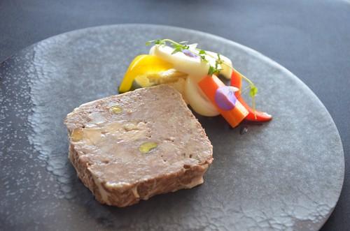 糸島豚のパテ・ド・カンパーニュと自家製ピクルスのセット (1枚入 約100g)
