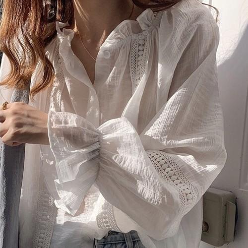 ベルスリーブレースシャツ U4143