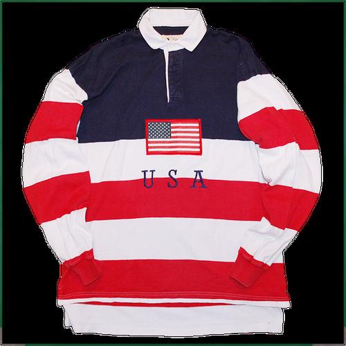 """Dehen"" Vintage Stars & Stripe Rugby Shirt Used"