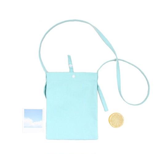 Mini Messenger Crossbody Bag Canvas Shoulder Bag Wallet Bag Pouch ミニ ショルダーバッグ クロスボディ ウォレット 財布 パスケース (HMS99-3158582)