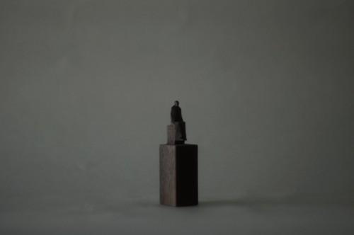 (062)wood figure-mini台付_033