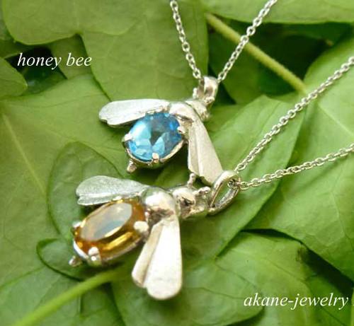 Honey Beeシトリンのネックレス