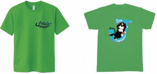 バーニーズジャンボリー2019ロゴ ドライTシャツ /ブライトグリーン/全6色