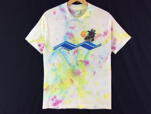 USA古着◆ビンテージサーフTシャツ タイダイ L程度