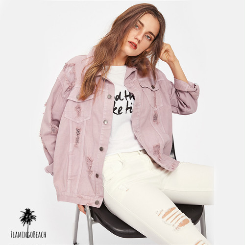【FlamingoBeach】color denim jacket デニムジャケット 67292