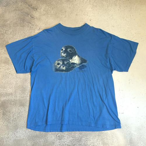 Tシャツ アザラシ 水色 ヴィンテージ 150