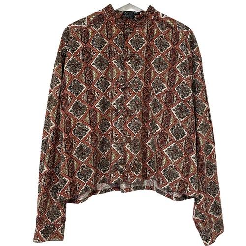 Remake China Shirt 【 Brown Crazy Pattern Short 】