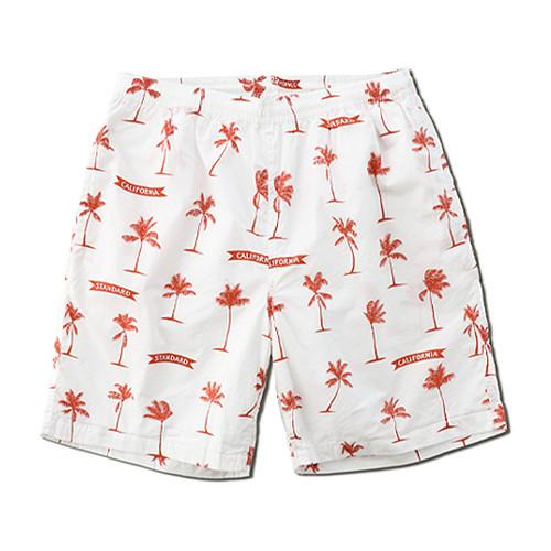 STANDARD CALIFORNIA #SD Palm Tree Shorts Fabric Designed by Jeff Canham White