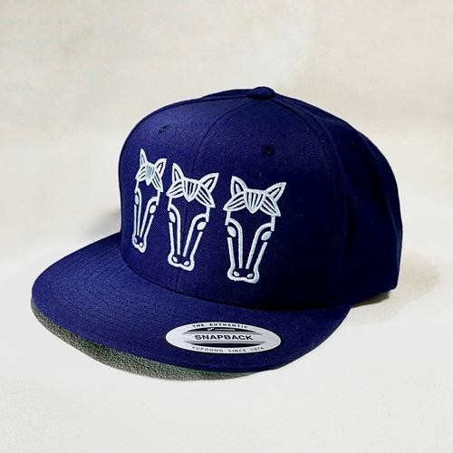 Flat visor cap #03 Chikko blue