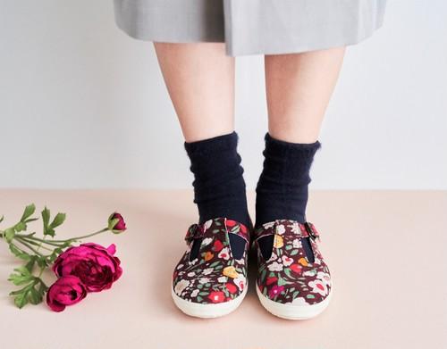 【Tストラップシューズ】 暖かな日の花 hanamikoji 花見小路 靴 シューズ