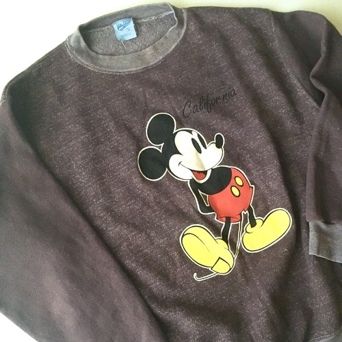 Velva Sheen : 90's Mickey Mouse print sweat shirt (used)