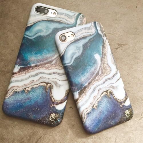 【iphone7/8/7plus/8plus/X/XS/XSMAXカバー】海岸iphoneケース 大理石 ビーチ