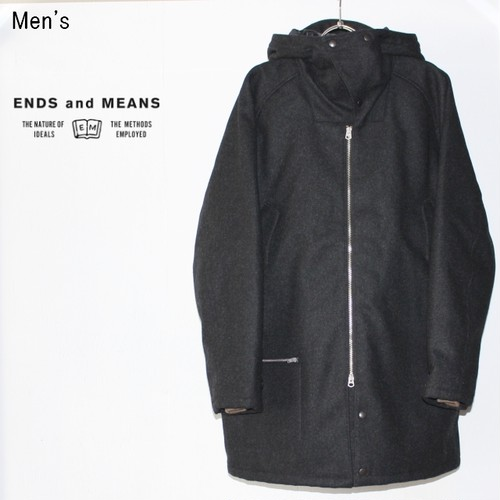 ENDS and MEANS  オルダスコート Aldous Coat  EM172J001 (DARK CHACOAL)