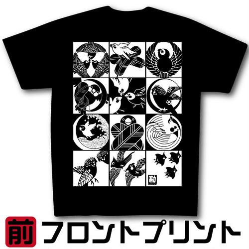 インコ家紋Tシャツver3