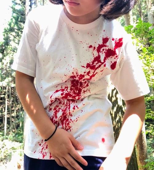 血しぶきTーシャツ・スパッタリング血塗れT