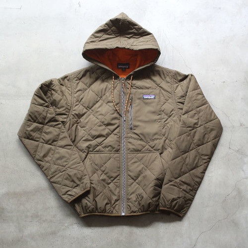 patagonia DIAMOND QUILTED BOMBER HOODY SEDIMENT