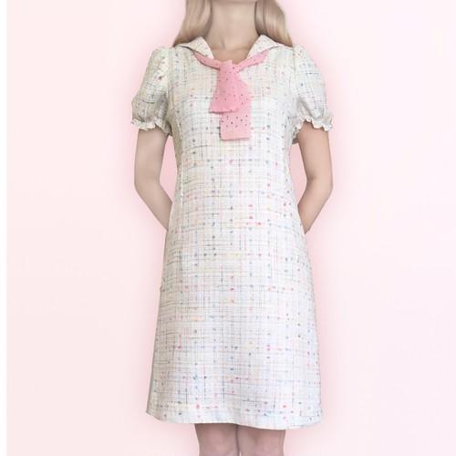 Parisienne sailor dress white