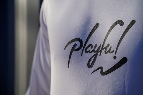Playful! LOGO Long TEE (White)