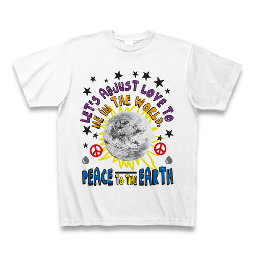 ASH DROP PEACE TO THE EARTH Tシャツ(ホワイト)