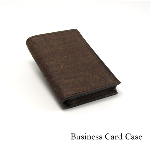 VEGAN BUSINESS CARD HOLDER  BROWN / 名刺入れ 茶 コルク製
