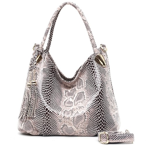 PROMOTION Individual Fashion Snake Designer Big Capacity  Ladies Bags New Tassel Embossed PU Leather Cross Body Handbags  Women