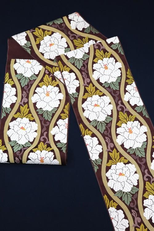 袋帯 西陣織 立枠牡丹文