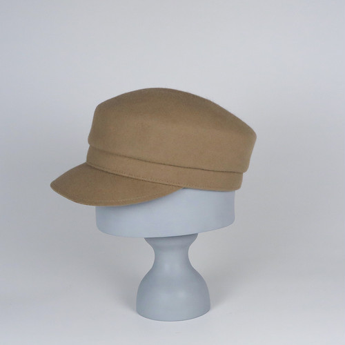 AW20-BE-1 Rabbit Felt Marin Cap - BEG