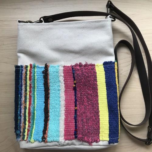 【コラボ商品】さをり織りを使った一点物ポシェット