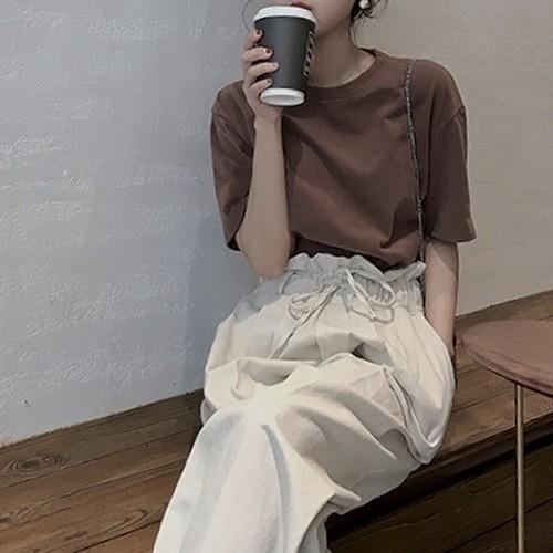 【送無】*即&予* 3color:Over Cotton Tshirt   コットン Tシャツ 送料無料