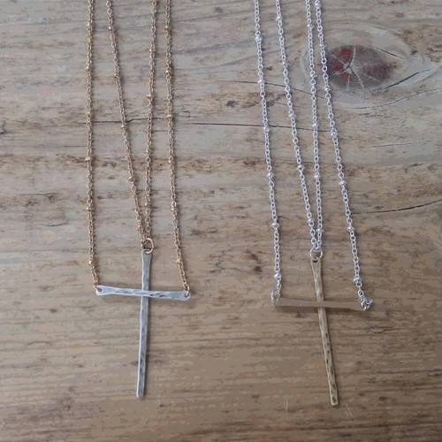 Layered Cross Necklace (9748N)