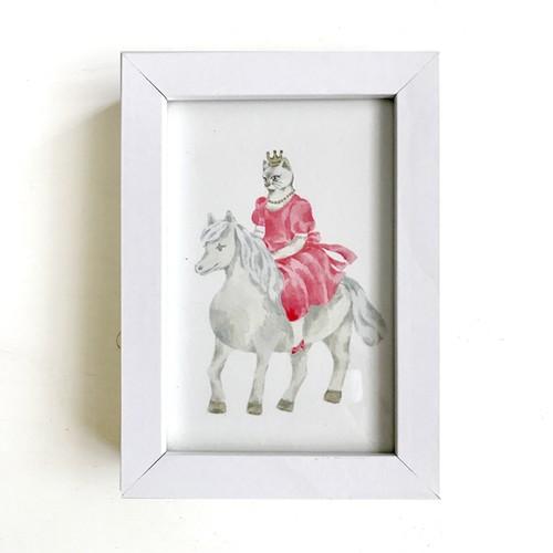 original art『馬にのるねこプリンセス』