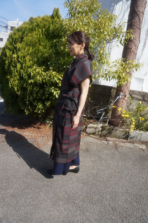 着物リメイク 簡単シンプルオーダーメイド 着物からロングベスト