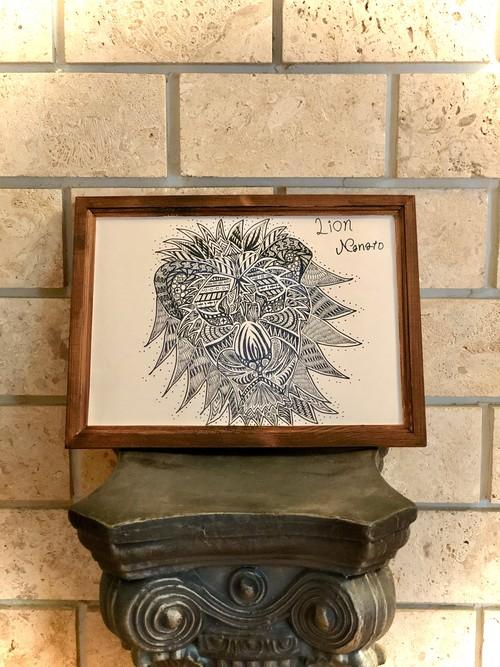 Lionアートボード (ポスター)NA2& original design art board (ライオン)