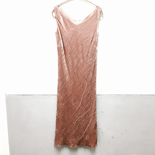 velour long dress