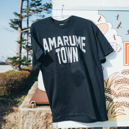 復刻 AMARUME TOWN Tee BLACK×STEEL GRAY