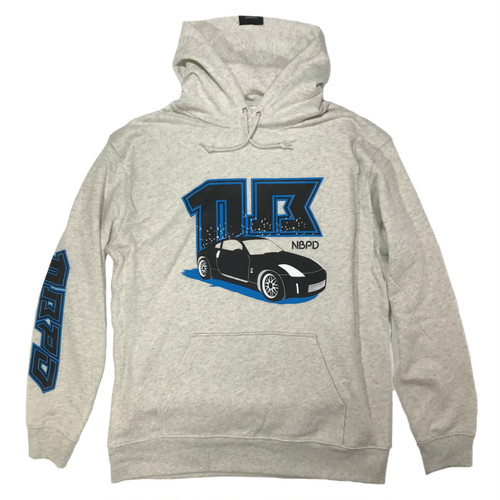"Printed hooded top ""Sports car"" Oatmeal"