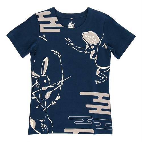 兎の勝ち 鳥獣戯画 Tシャツ