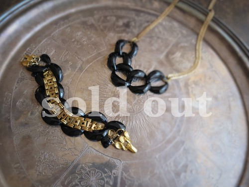 vintage bracelet black steel chain <STE-STR1>