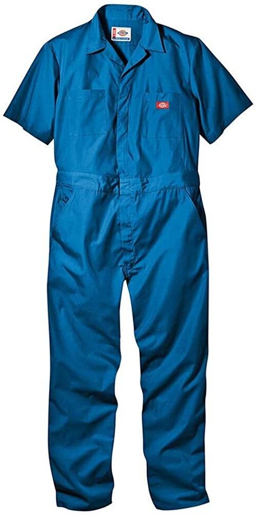 DICKIES ディッキーズ ユニセックス USA企画 半袖カバーオール 33999 サロペット つなぎ 作業服 SHORT SLEEVE COVERALL ブルー 1979977