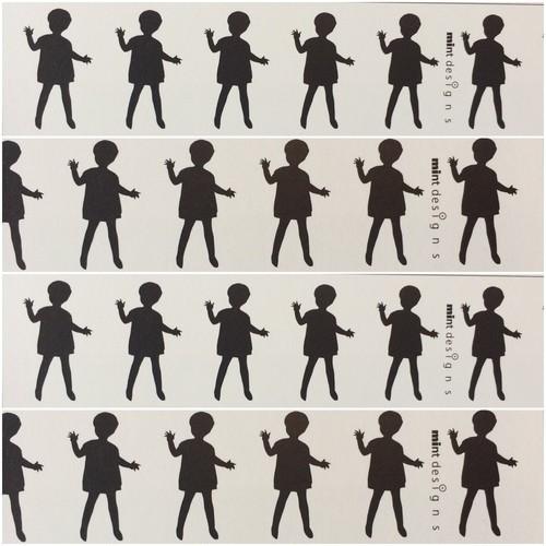 mt マスキングテープ mintdesigns / ドール・ブラック