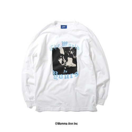 LFYT X NAS WORLD IS YOURS L/S TEE / WHITE