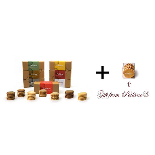 Coffret 1 Poilâne® X Cadeaux de France : La Collection des sablés Poilâne ® (7 boîtes) コフレ1ポワラーヌ×カドードゥフランス: コレクションサブレ 7箱