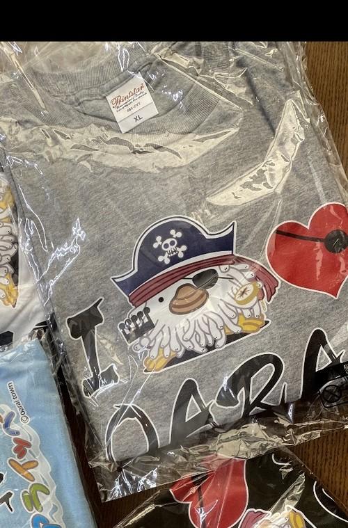 I  LOVE OARAI  アライッペTシャツ 【カラー:グレー、サイズXL】 色は画像と異なります 大洗