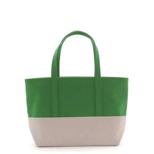 daisyhillトートバッグ【L】グリーン×グリーン×ペールグレー