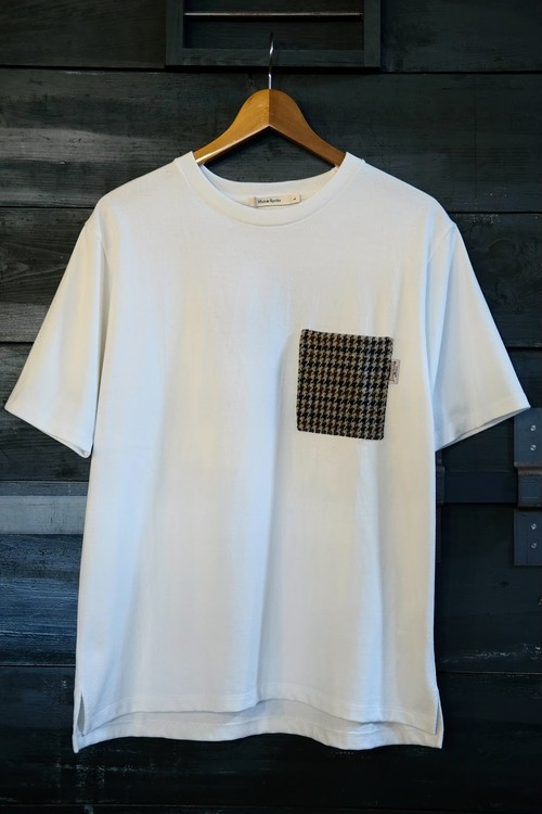 【Hub&Spoke】 Harris Tweed Pocket Tee