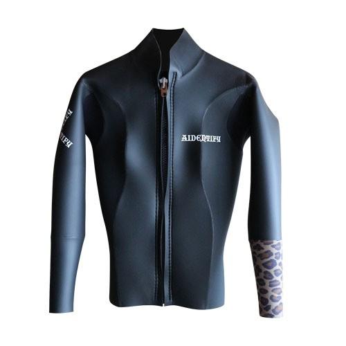 Model A Ladies Front Zip Jacket 2x2mm (M サイズ)