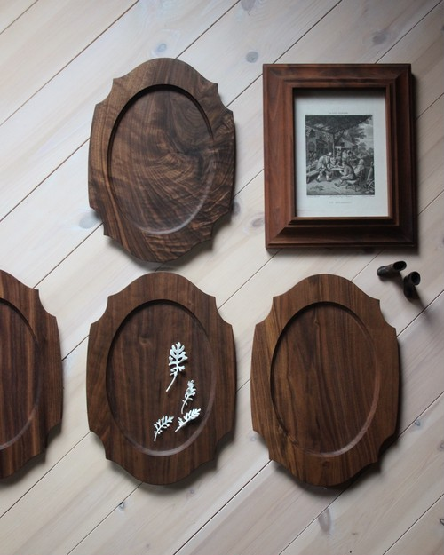 woodplate Lサイズ ウォールナット(箱入り)