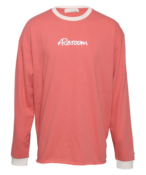 3D LOGO PRINT COLOR SWEAT TRIM LONG SLEEVE[REC423]