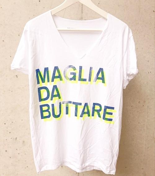 MAGLIA(マリア) BUTTARE Vネック ホワイト
